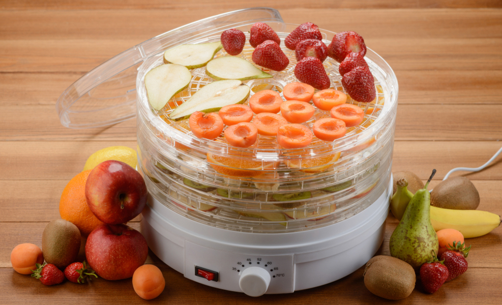 Electric Dehydrator with fruits