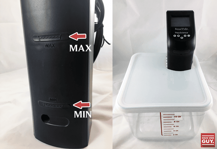Creative Series inside a sous vide container