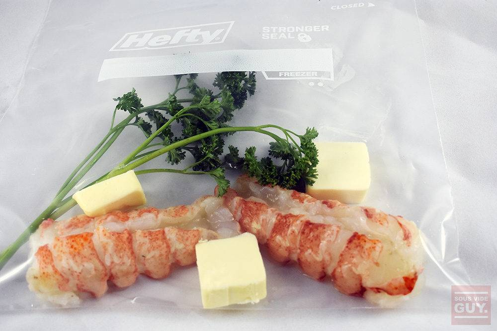 add lobster to your sous vide bag