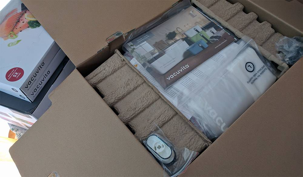 unboxing the Vacuvita system