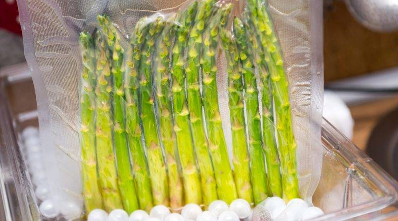 Sous vide asparagus has the perfect tender texture, retains its vibrant green color, and tastes heavenly.