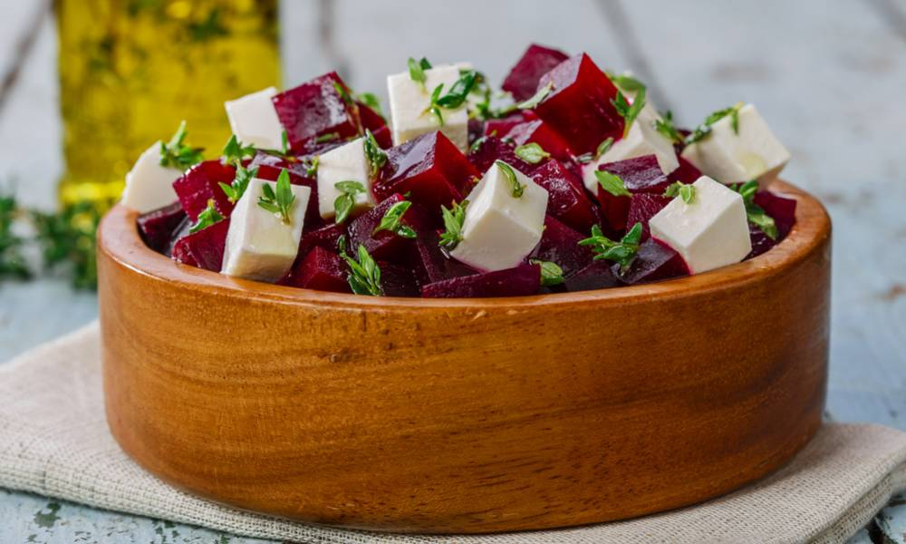 This Mediterranean-inspired sous vide beets salad is a perfect dish for the summer.