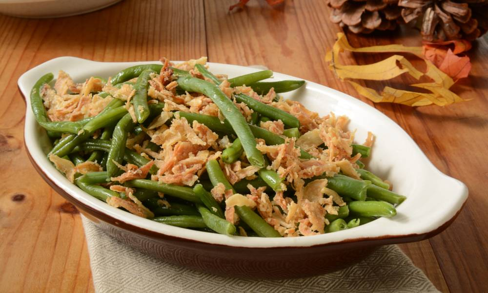 Sous vide green beans casserole will quickly become your family's favorite holiday meal.