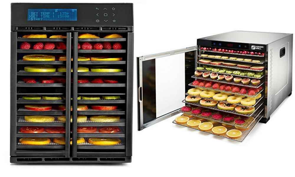Horizontal flow dehydrators are larger and pack much more power than the basic vertical flow unit.