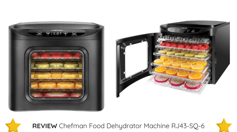 The affordable Chefman Food Dehydrator Machine RJ43-SQ-6 is the smart choice for beginners.