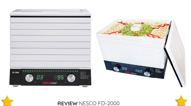 The NESCO FD-2000 is a great option if you want a digital food dehydrator with a large tray capacity.