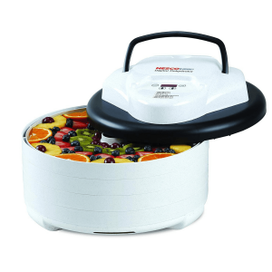 The energy-efficient and budget-friendly NESCO FD-77DT digital food dehydrator saves you money.