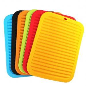 These colorful silicone mats protect your countertops and look great, too!
