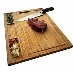 Top 7 Father's Day Gifts for Dads Who Love Jerky: HHXRISE Large Organic Bamboo Cutting Board For Kitchen